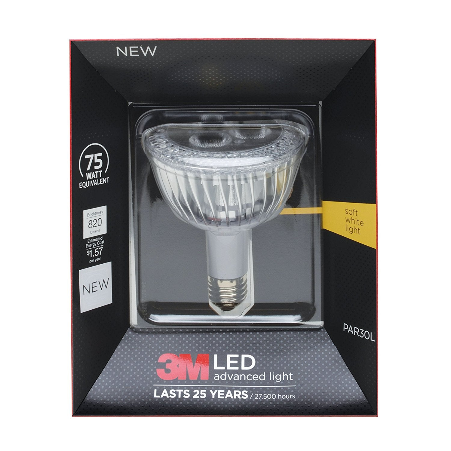 3M LED Advanced Light Bulbs PAR-30L 75 Watts, Soft White