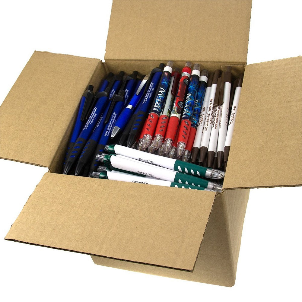 5-Pound Assorted Misprint Retractable Ballpoint Ink Pens Approximately 200 Pens