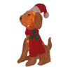 Holiday Christmas Pre lit Plush Pup Puppy Dog Santa Hat Mistletoe Scarf