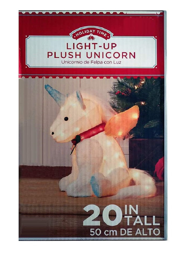 HolidayTime Christmas Unicorn 20 in Lighted Yard Outdoor Decoration