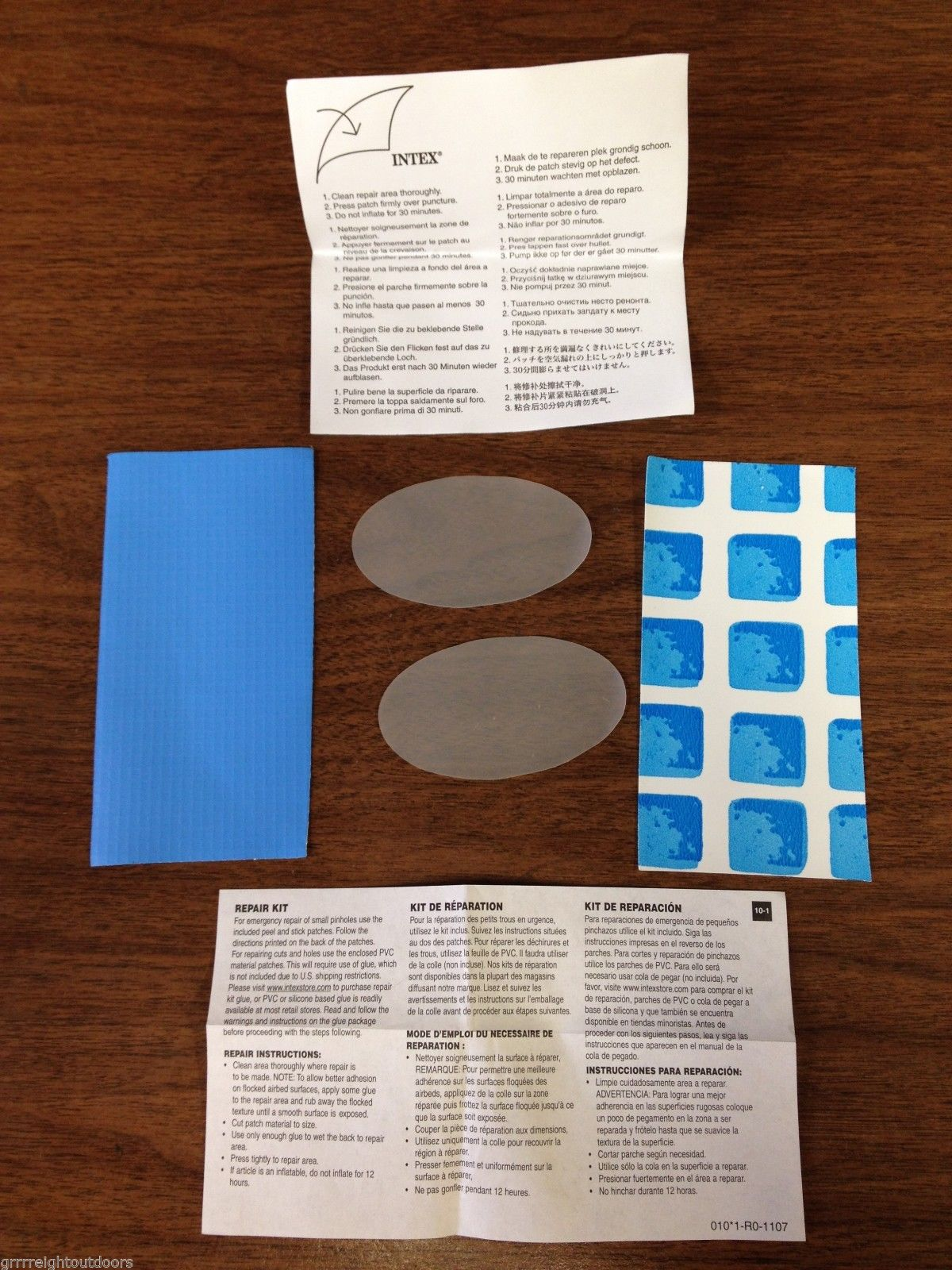 intex above ground pool patch material only repair kit NO glue included
