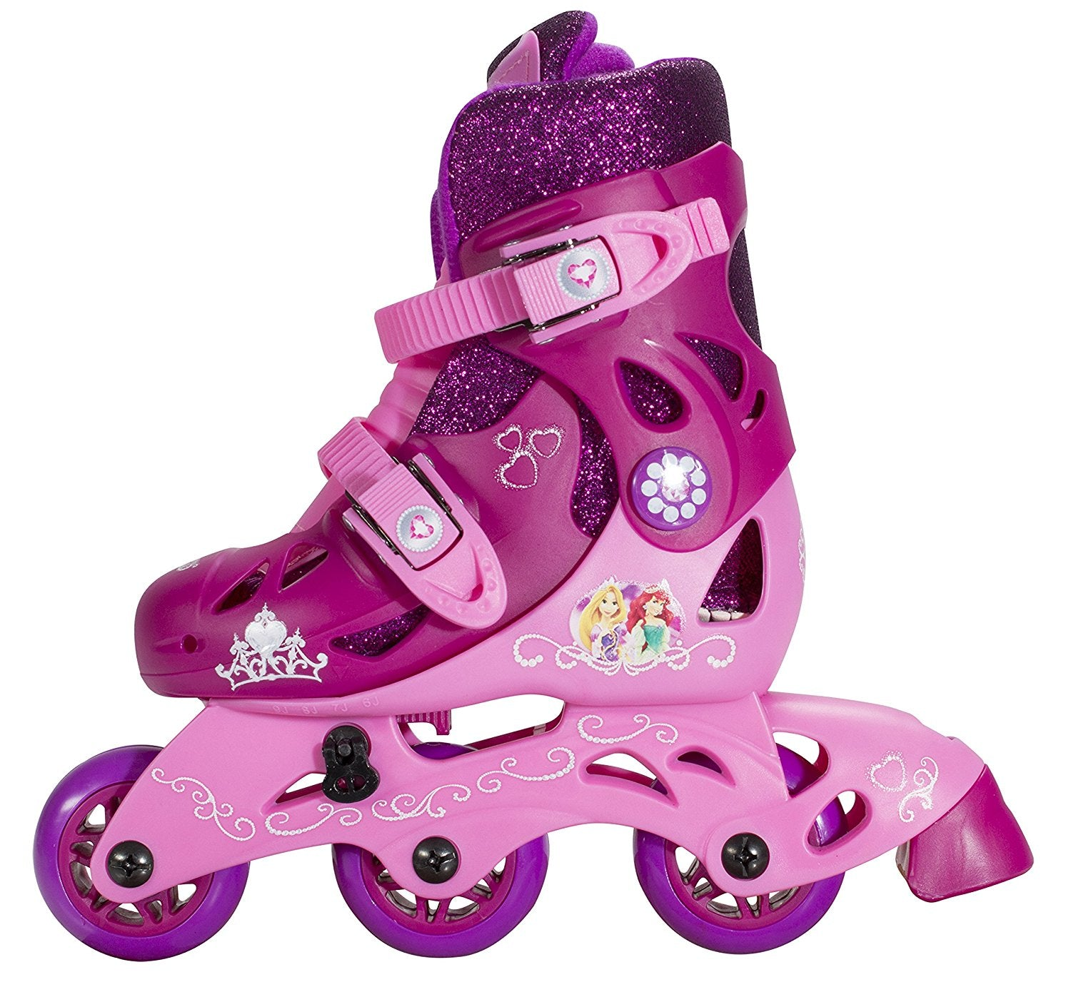 Disney Princess Adjustable 2-in-1 Glitter Trainer Skates