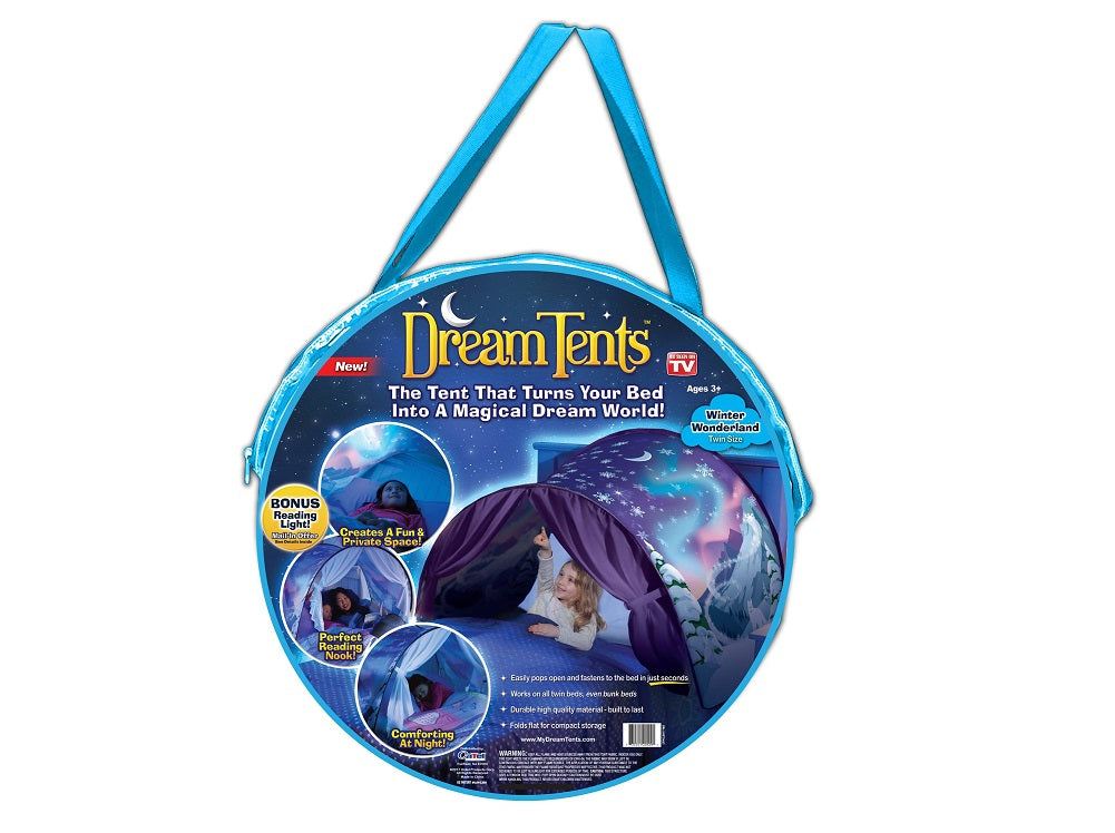 Deluxe Dream Tents Magical Dream World Winter Wonderland, Twin Size