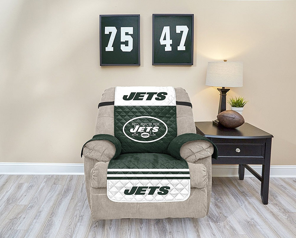 NFL New York Jets Recliner Waterproof Furniture Protector With Pockets