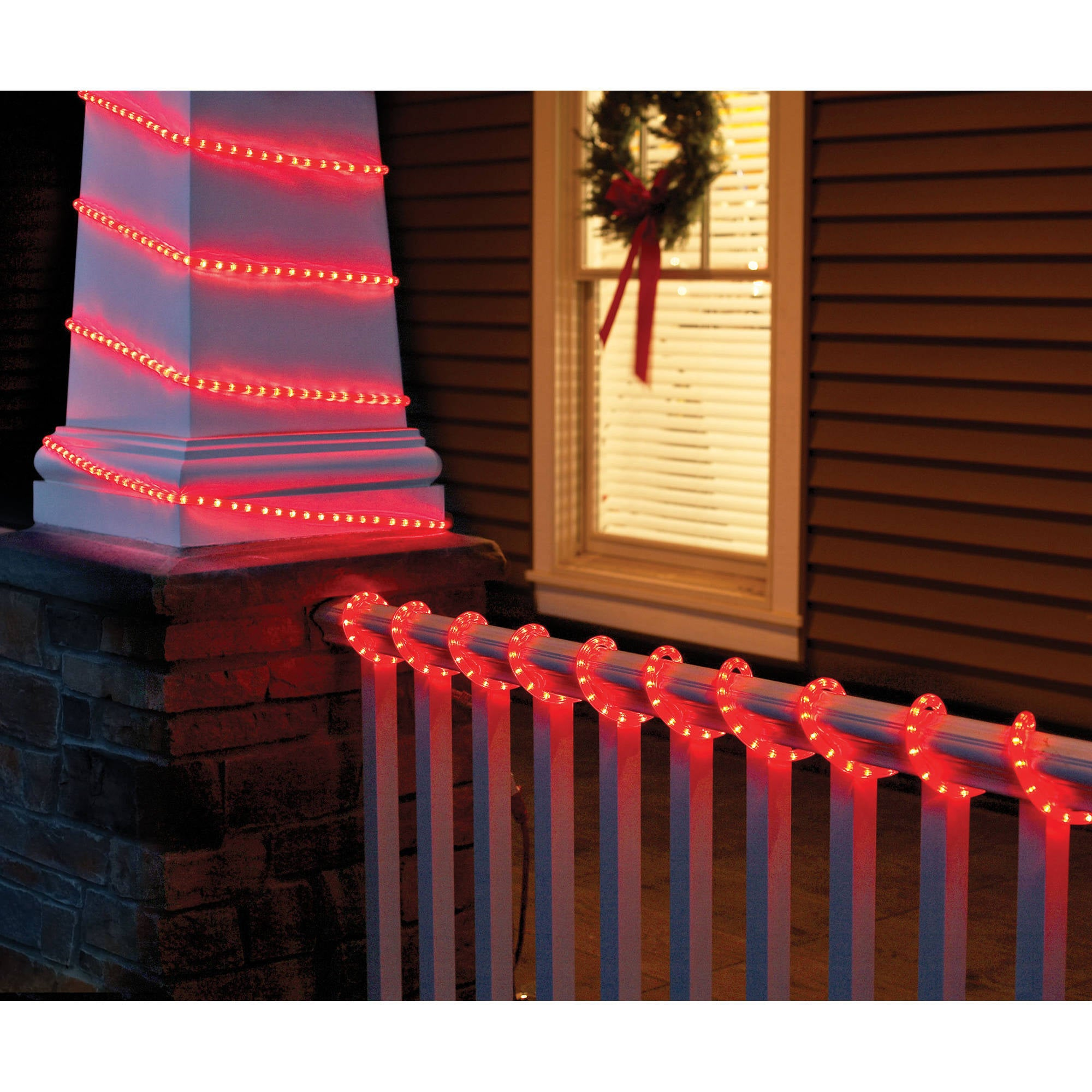 Holiday Time Christmas Lights.Holiday Time Christmas Lights 18 Crystalized Rope Light Red
