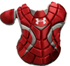 "Under Armour Youth Girls Pro Chest Protector 13.5"" Scarlet"