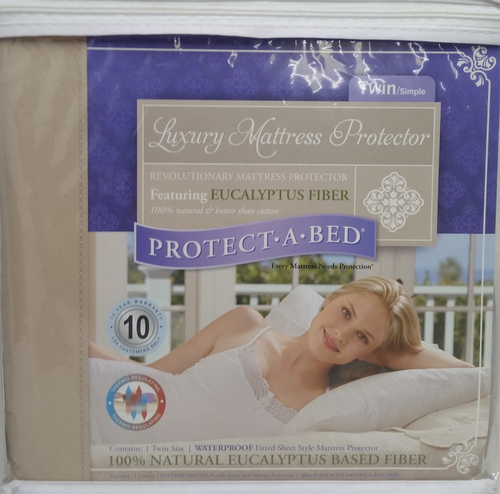 Protect-A-Bed Luxury Waterproof Mattress Protector, Twin