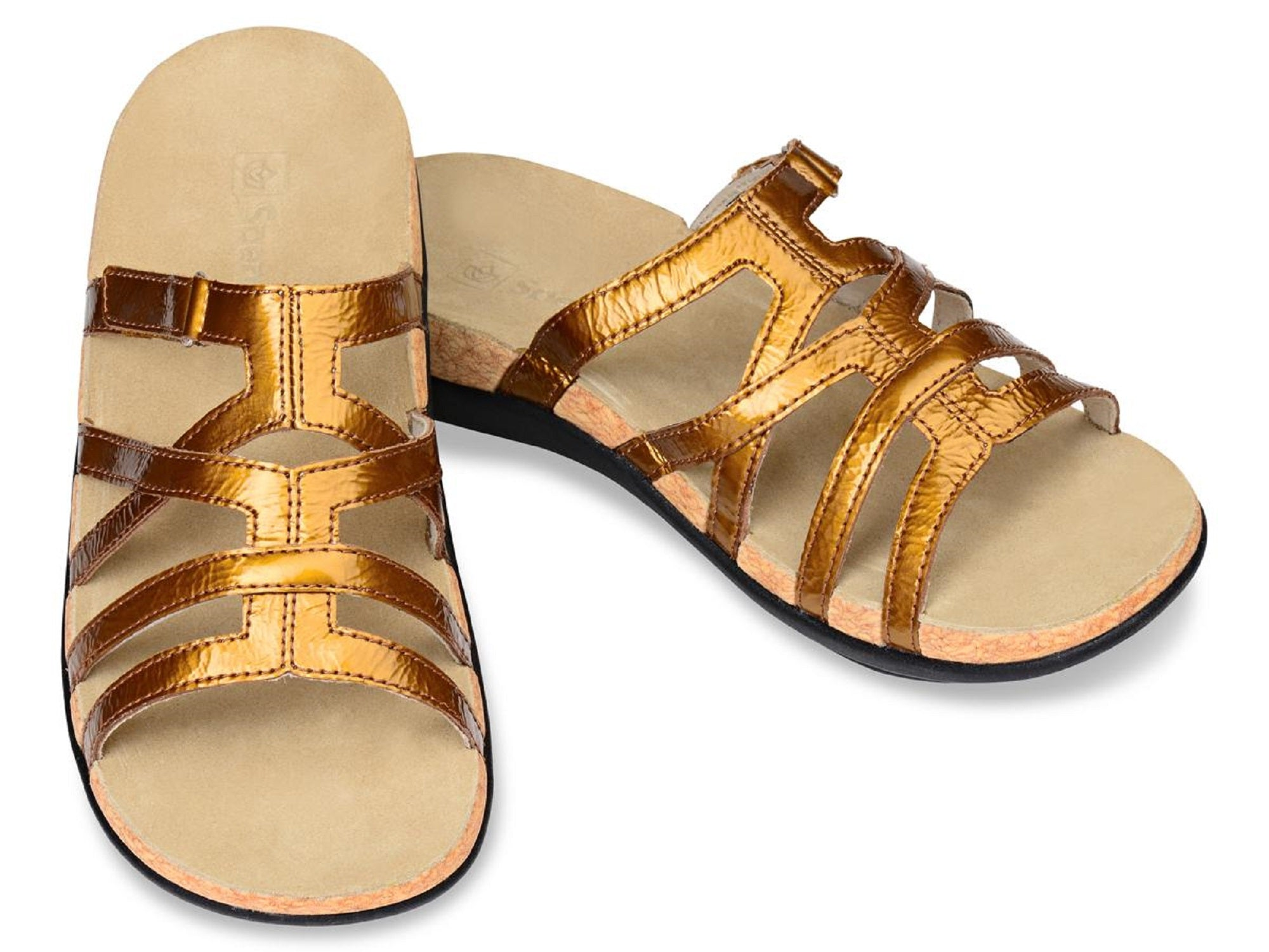 Spenco Women's Roman Gold Sandal, Size 10