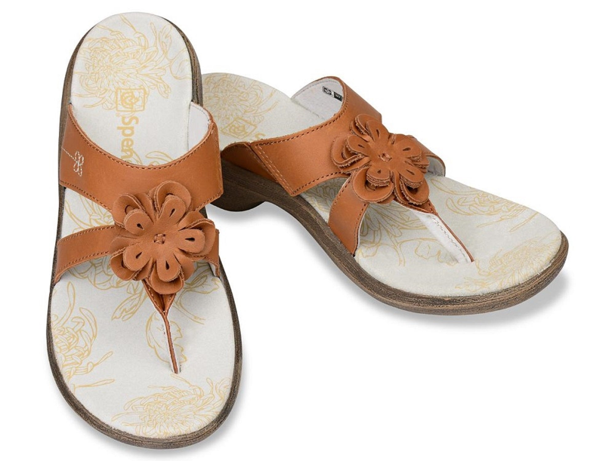 Spenco Rose - Supportive Casual Sandals - Tan Women's - Size 5