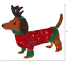 "Holiday Time Christmas Light-Up Plush Dachshund 22"" Long"