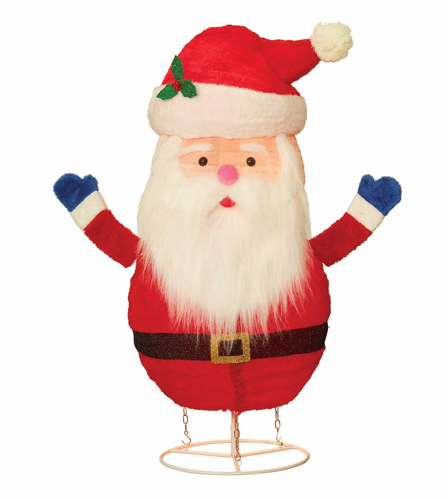 "Holiday Time Light-up 36"" Plush Pop-up Santa"