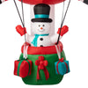 Holiday Time Inflatable Santa Hot Air Balloon With Snowman 12.5 ft