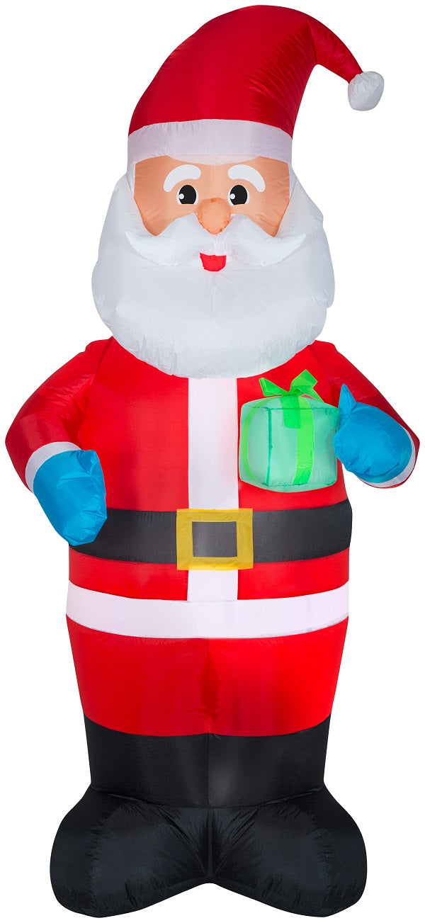 Holiday Time 7-Foot Santa Holding Gift Inflatable Yard Decoration