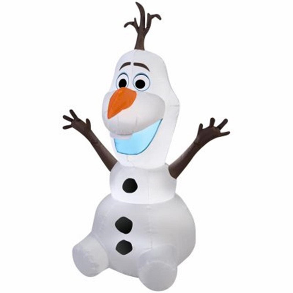 Disney 4 ft Sitting Olaf Frozen Christmas Airblown
