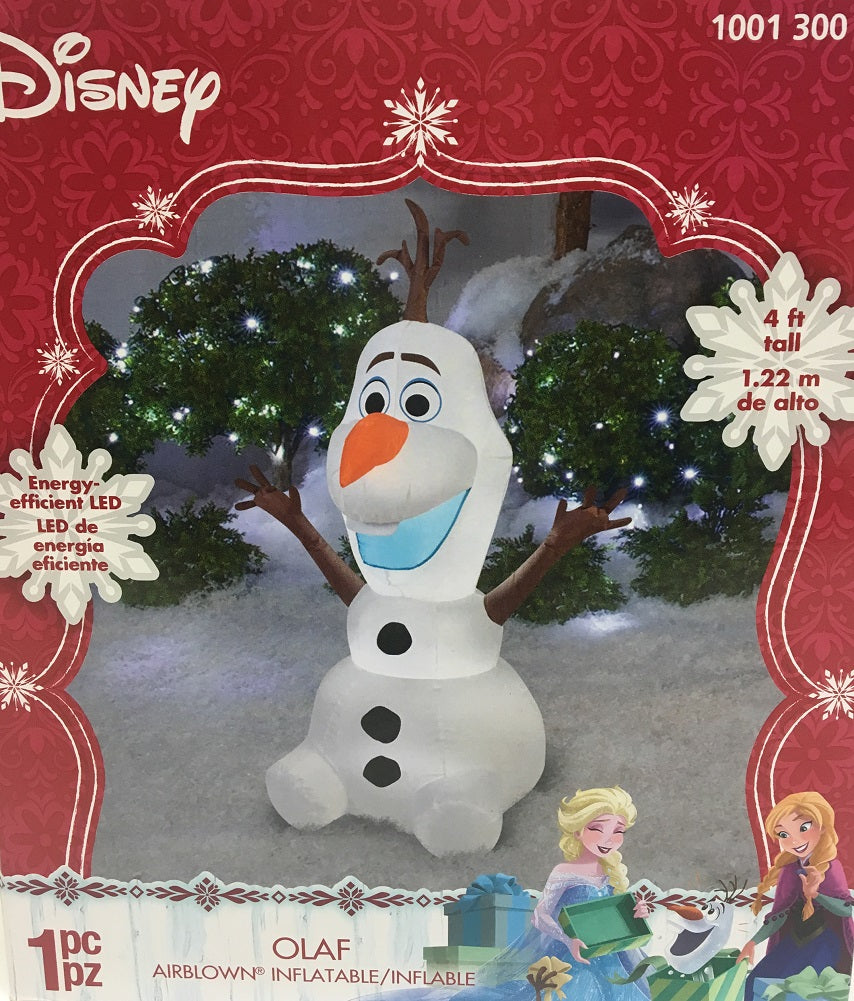 Disney 4 ft Sitting Olaf Frozen Christmas Airblown | My Quick Buy