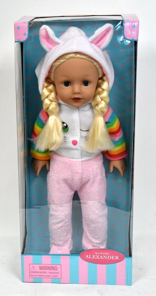 "Madame Alexander Sleepover Collection 18"" Doll with Blonde Hair"