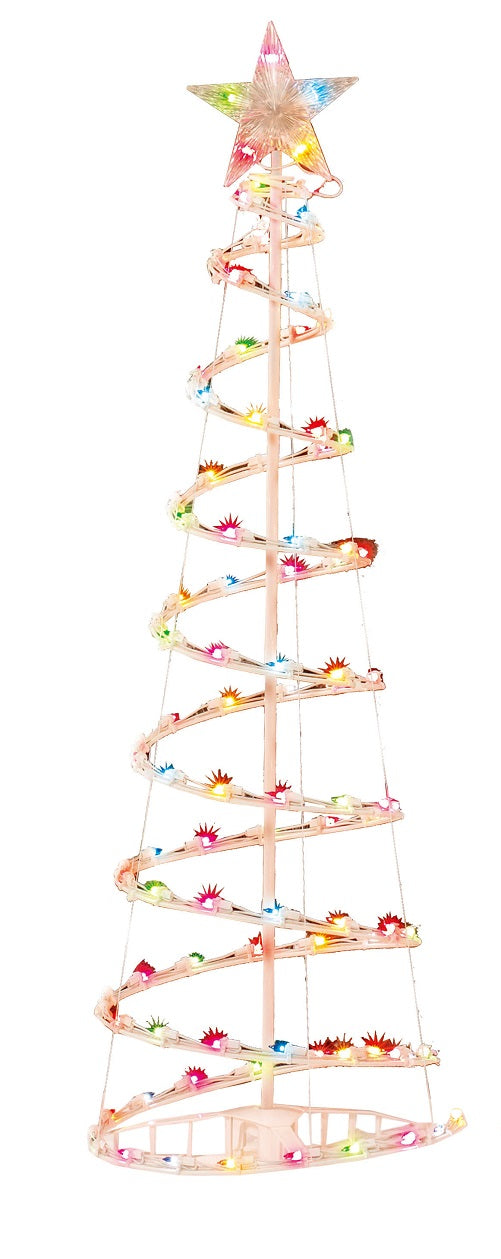 Holiday Time 6' Multi-Color Spiral Christmas Tree Light Sculpture