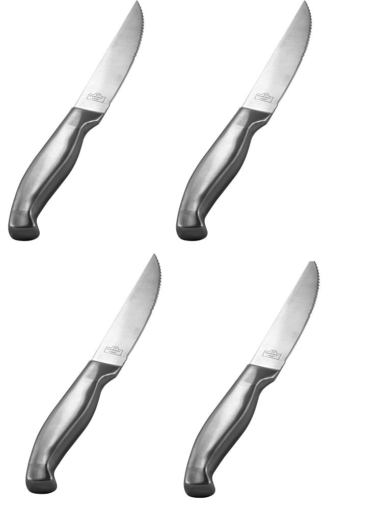 10 Strawberry Street Steak Knives Silver, Set of 4, Stainless Steel