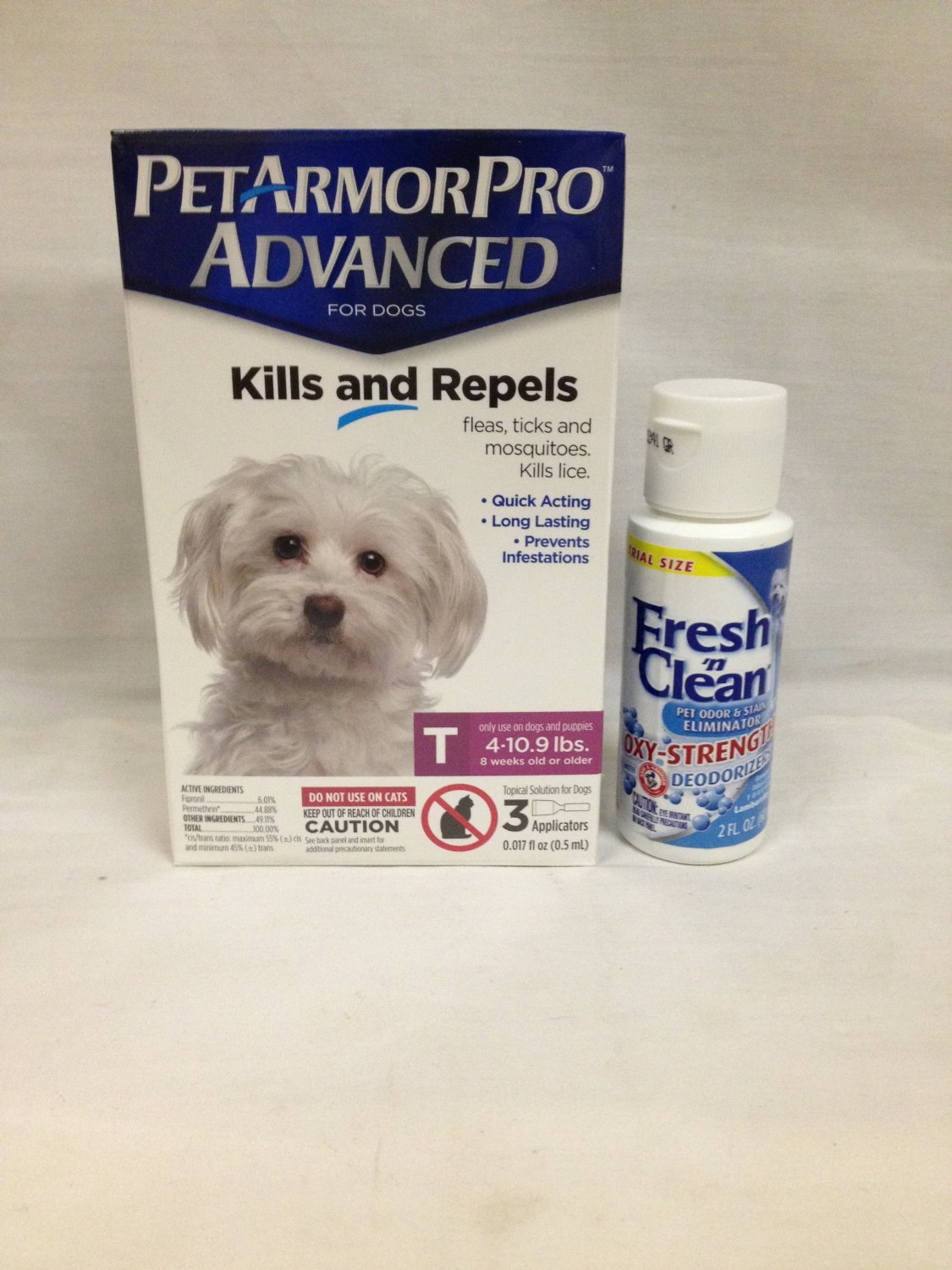 Pet Armor Pro Advanced Toy 4-10 lbs 3 Pack Plus 1 Container Fresh N Clean Oxy Odor Stain Remove Remover 2OZ