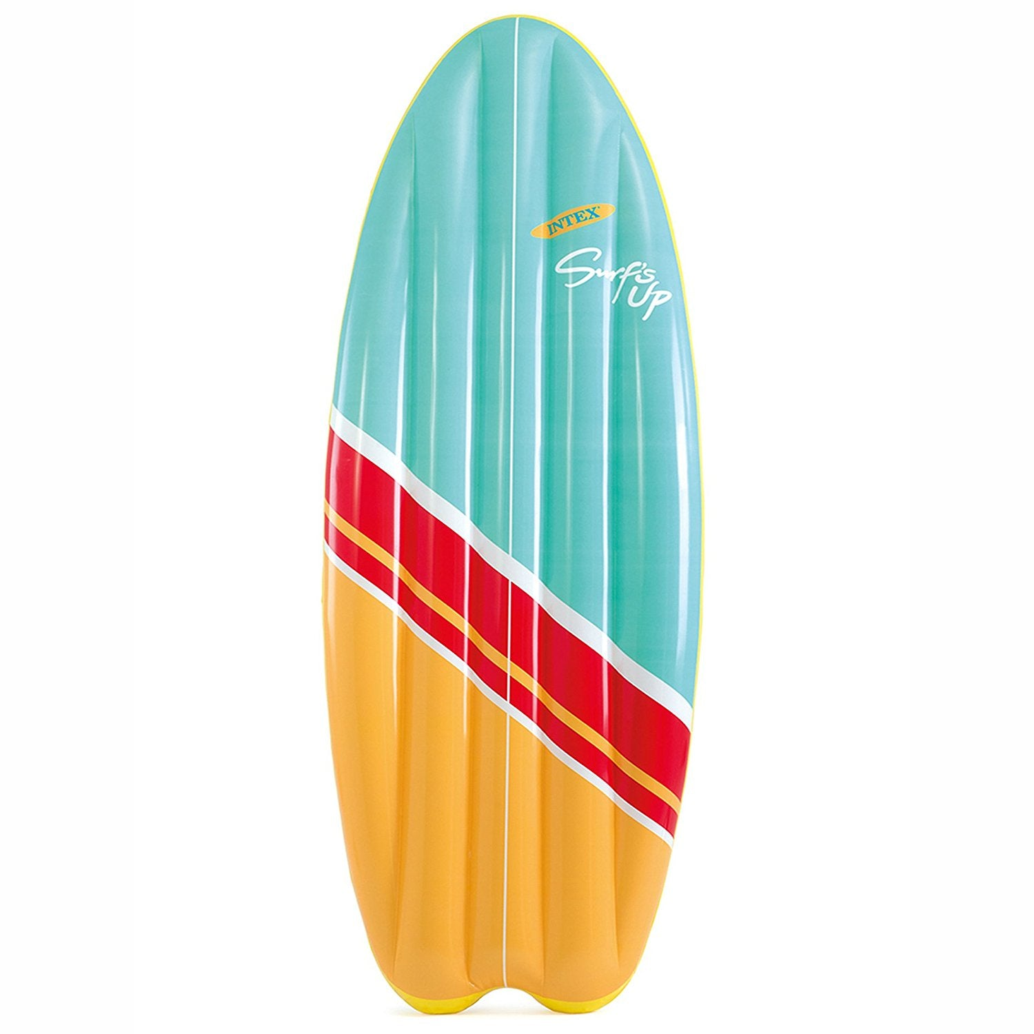 "Intex Surf's Up High Wave Surfboard Inflatable Mat with Fiber-Tech Construction 70"" X 27"""