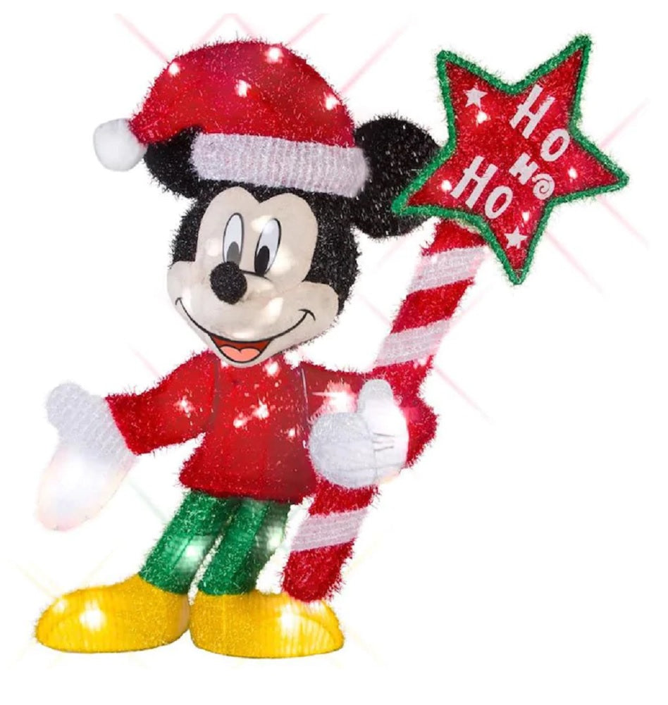 Disney/Pixar 2.59 FT Mickey Mouse Sculpture with White Incandescent Lights