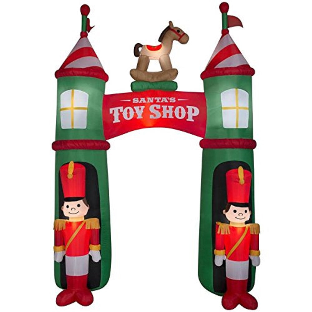 Holiday Living Airblown Archway Santa's Toy Shop Inflatable 12ft Tall