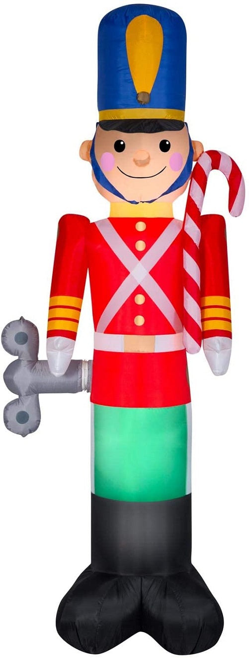 Gemmy 8' Airblown Animated Inflatable Toy Soldier Nutcracker w/Windup Key