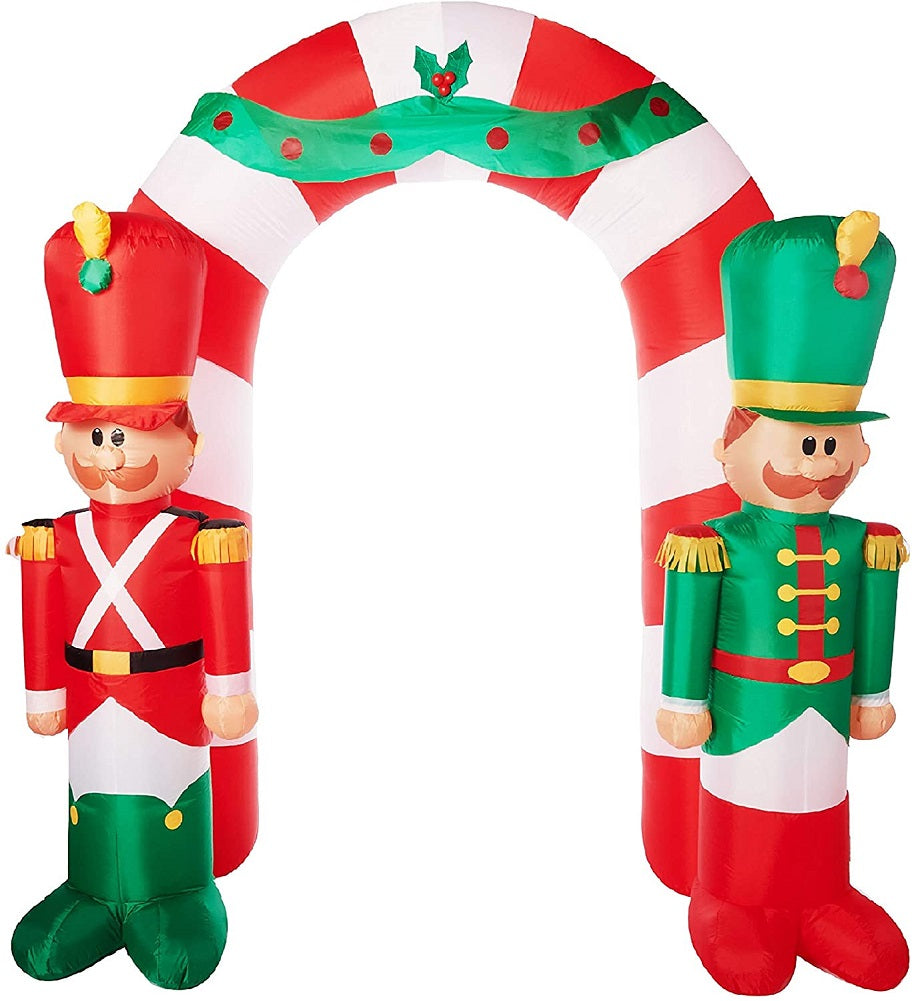 Gemmy Holiday Time Inflatable - Toy Soldier Archway (9 ft. Tall)