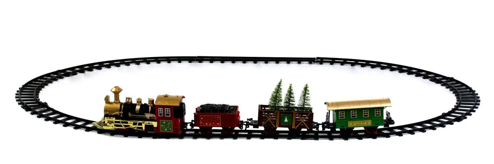 Holiday Time Ready to Play Train Battery Powered Model Train Set