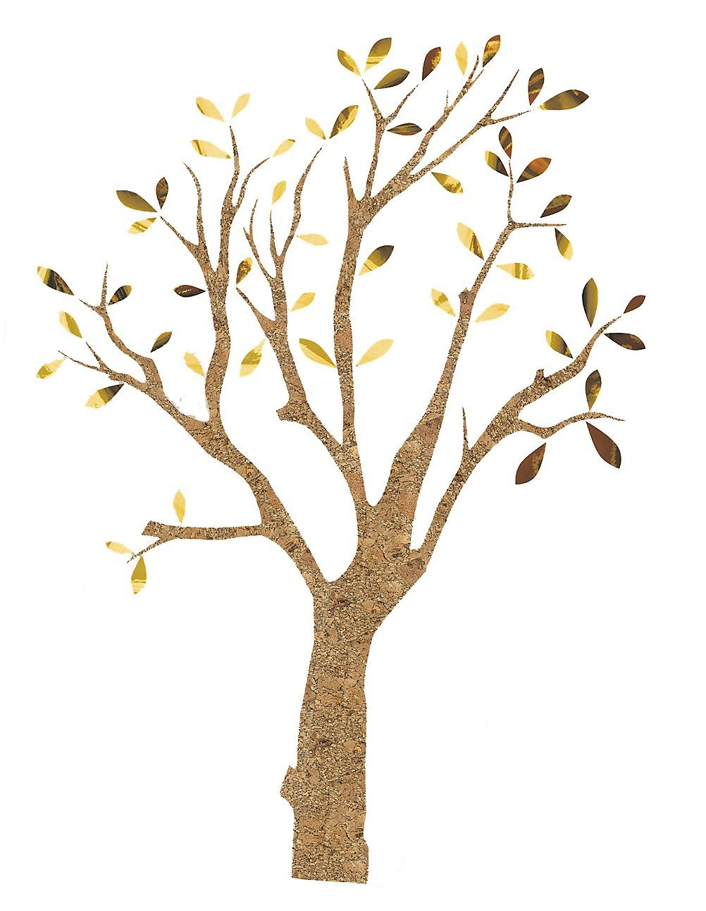 Crearreda CR-81582 Cork and Metallic Tree Wall Decal