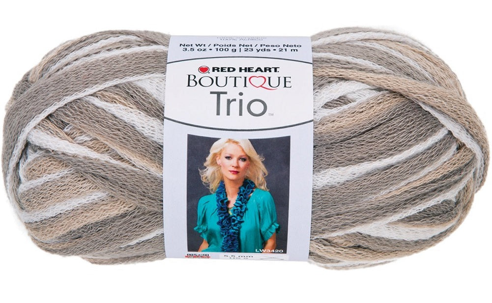 Red Heart Boutique Trio Yarn-Shale