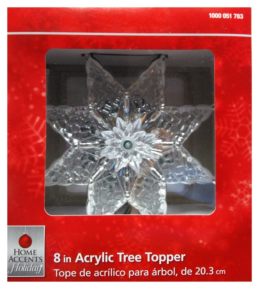 Home Accents Holiday 8 in. Acrylic Star Tree Topper