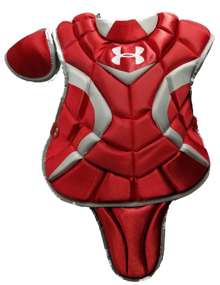 "Under Armour Pro Junior Catcher's Chest Protector 14.5"" Scarlet Ages 9-12"