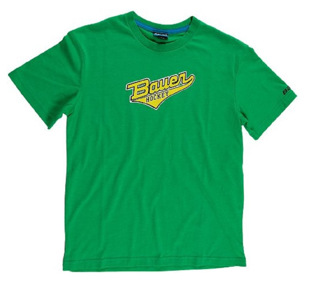Bauer Short Sleeve Varsity Youth Green T-Shirt, Medium