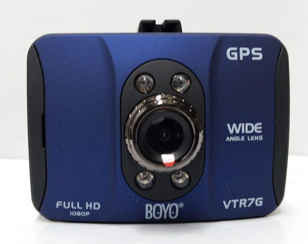 BOYO HD Vehicle Camera Recorder Dash-Cam with GPS and Built-In Monitor
