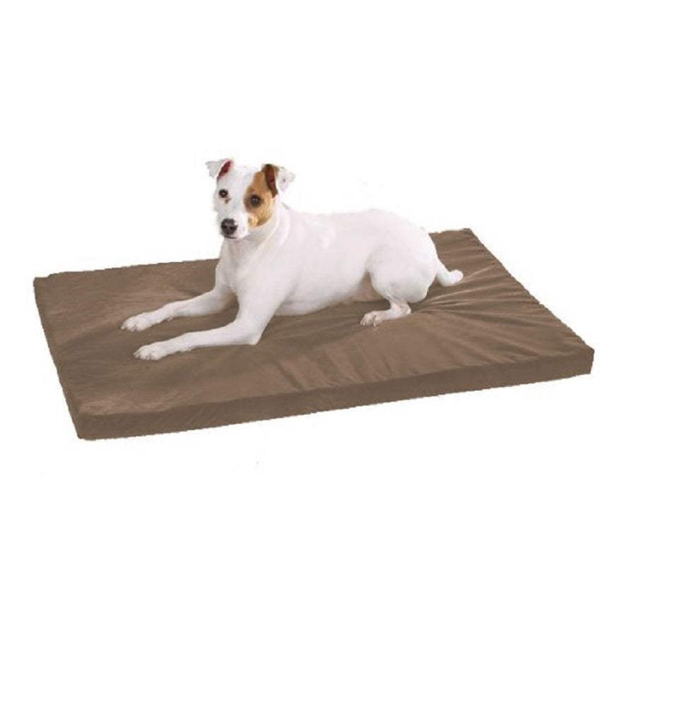 Therapeutic Memory Rectangular Foam Dog Bed Medium/Large, Warm Sand