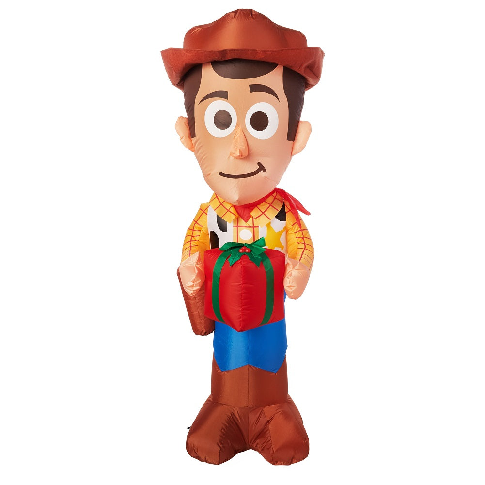 Gemmy Toy Story Christmas Inflatable Woody with Present 5FT Tall