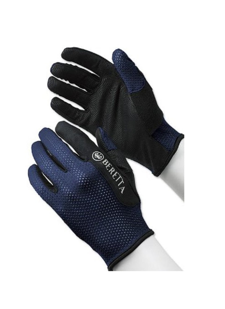 Beretta Men's Mesh Full Finger Navy Shooting Glove, Medium