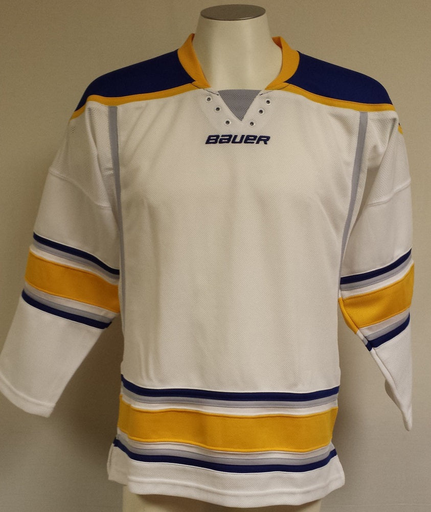 Bauer 800 Uncrested NHL Hockey Jersey, Youth/Medium (Buffalo Sabres-White)