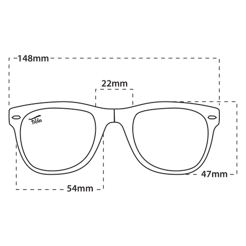 Foldies Classics Wayfarer Sizing Guide