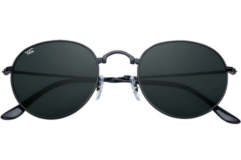 Foldies Black with Polarized Black Lens Folding Rounds