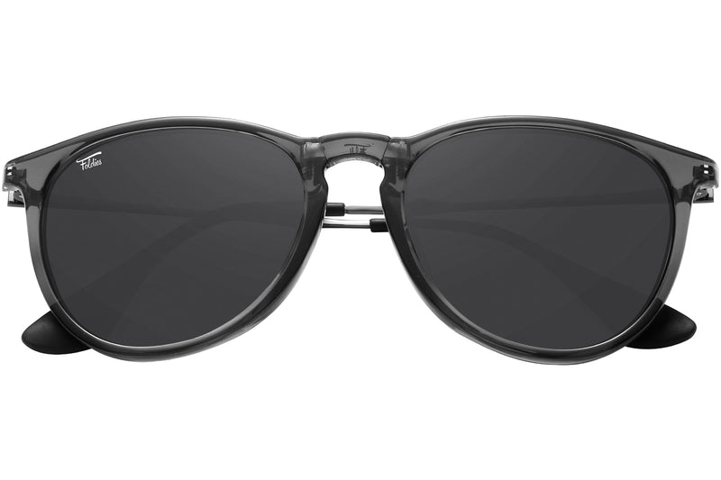 Foldies Polarized Milanos | Clear Dark Gray / Black