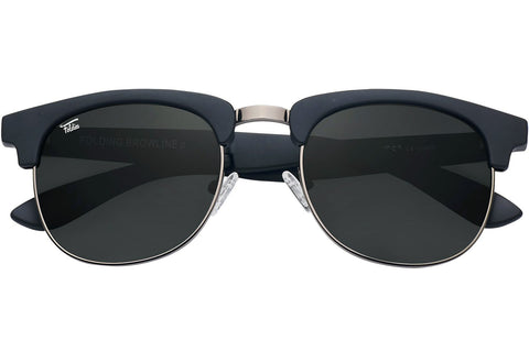 Foldies Matte Black with Polarized Black Lens Folding Browlines