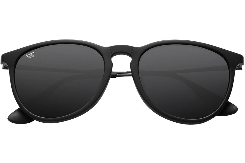Foldies Folding Polarized Milanos | Matte Black / Gradient Black