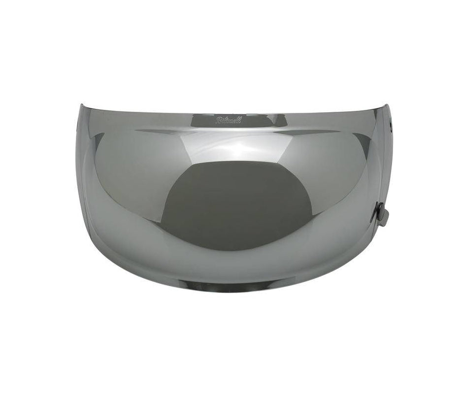 Biltwell Gringo S Anti-Fog Bubble Shield - Chrome Mirror