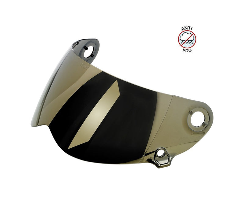 Biltwell Lane Splitter Gen 2 Anti-Fog Shield - Gold Mirror