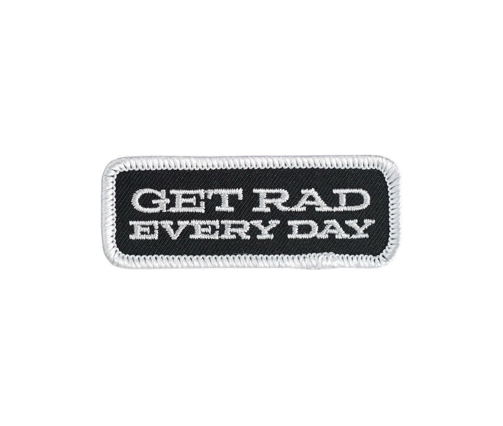 Biltwell Get Rad Every Day Patch - Black / White / Grey