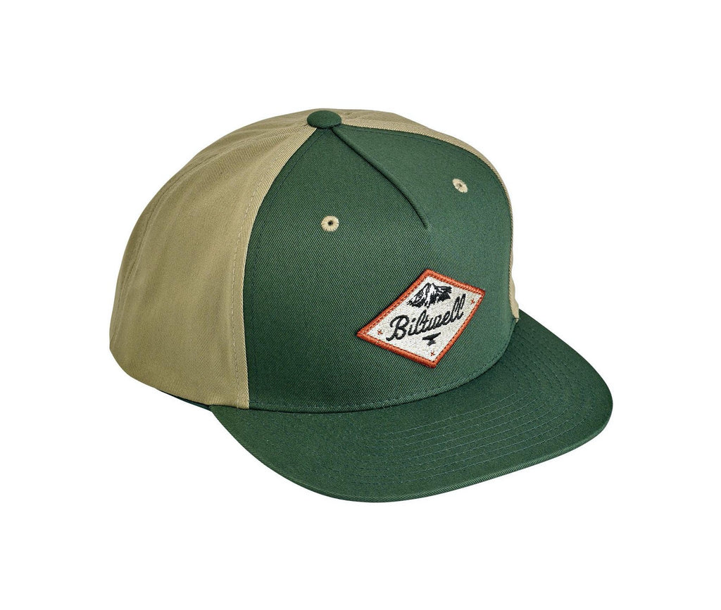 Biltwell Rocky Mountain Snap Back Cap - Green / Beige