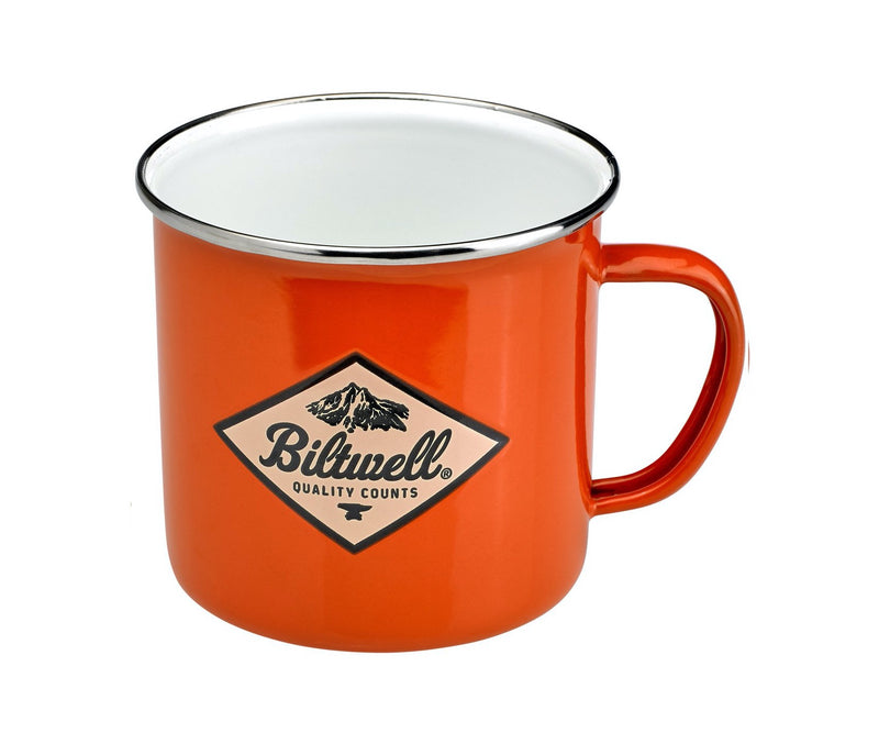 Biltwell Camp Mug - Orange / White