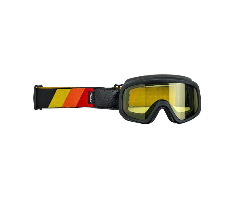 Biltwell Overland 2.0Tri - Stripe Goggle - Black with Red/Yellow/Orange